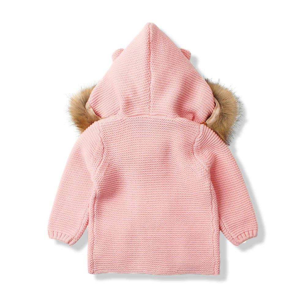 93247daf3c8b mimixiong Baby Cardigan Sweater Cartoon Hoodies Long Sleeve Coats ...