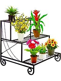 Good UNHO 3 Tier Metal Garden Plant Pot Stand Display Shelf Greenhouse Flower  Pots Storage Planter Holder