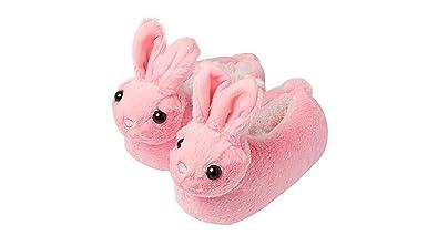 Chaussons fantaisie avec lapin  agrave  oreilles tombantes, semelle  antid eacute rapante, pour fille 5bff515e8941