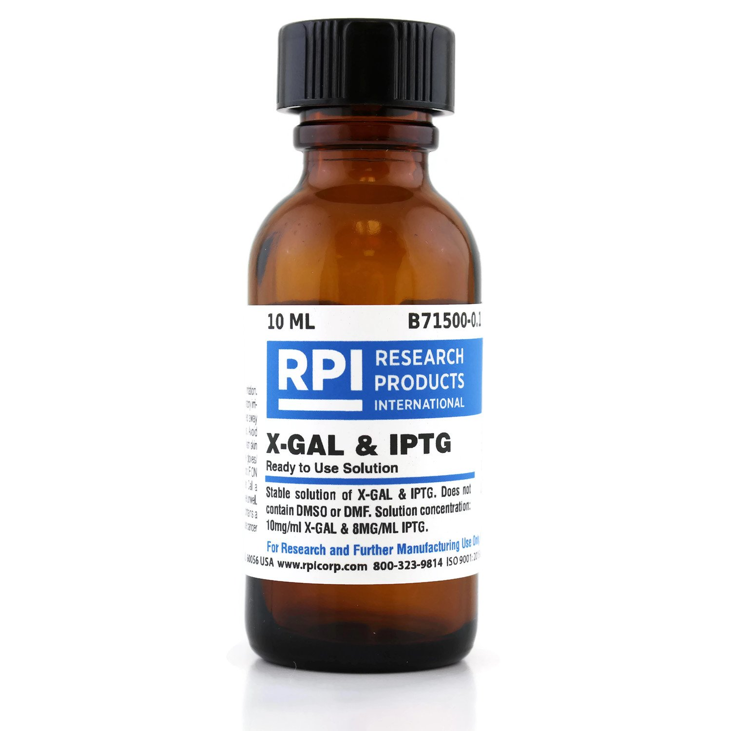 X-GAL & IPTG, Ready to Use, Non-Toxic Solution 10 mg/ml, 10 Milliliters