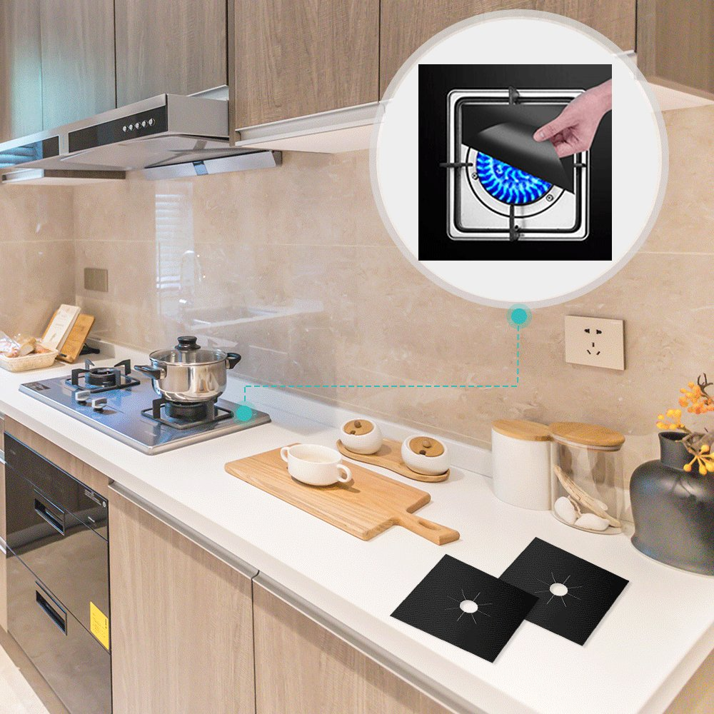 Stove Burner Covers 8 Pack Protectors Tolmnnts Wiring Diagram Rhl Ventilation Bathroom And Kitchen Extractor Fda Aprroved Gas Range Reusable Stovetop Liners Heat Resistant Bpa