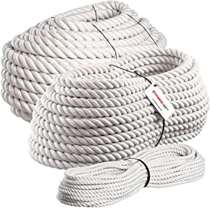 Seilwerk STANKE 5m cuerda de algodón 14mm trenzada a mano cuerda natural: Amazon.es: Bricolaje y herramientas