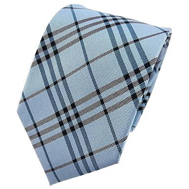 TigerTie diseñador corbata de seda - turquesa agua azul marrón a ...
