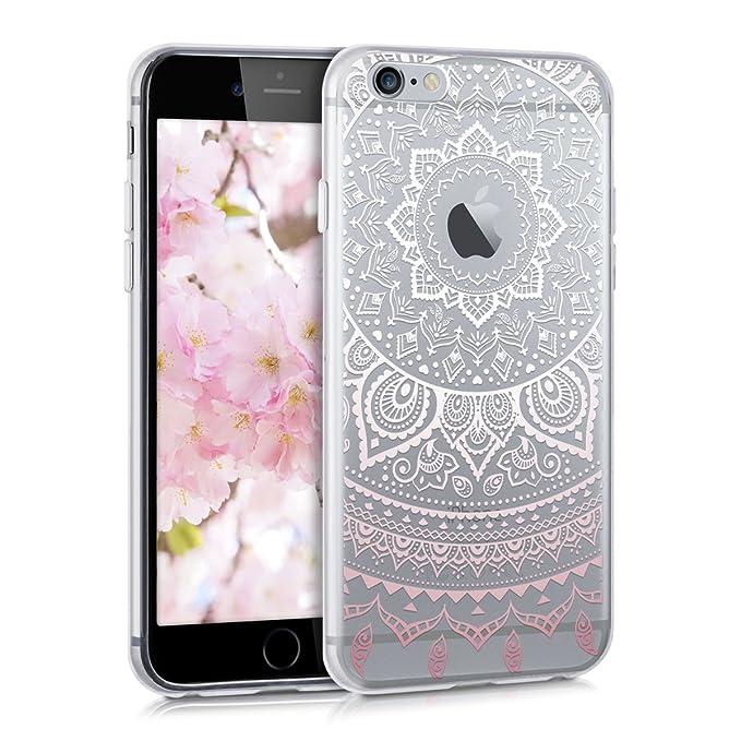 kwmobile Apple iPhone 6 / 6S Hülle - Handyhülle für Apple iPhone 6 / 6S - Handy Case in Rosa Weiß Transparent