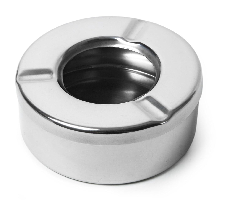 Protecció n contra el viento cenicero de acero inoxidable | Cenicero con tapa drinkstuff Others