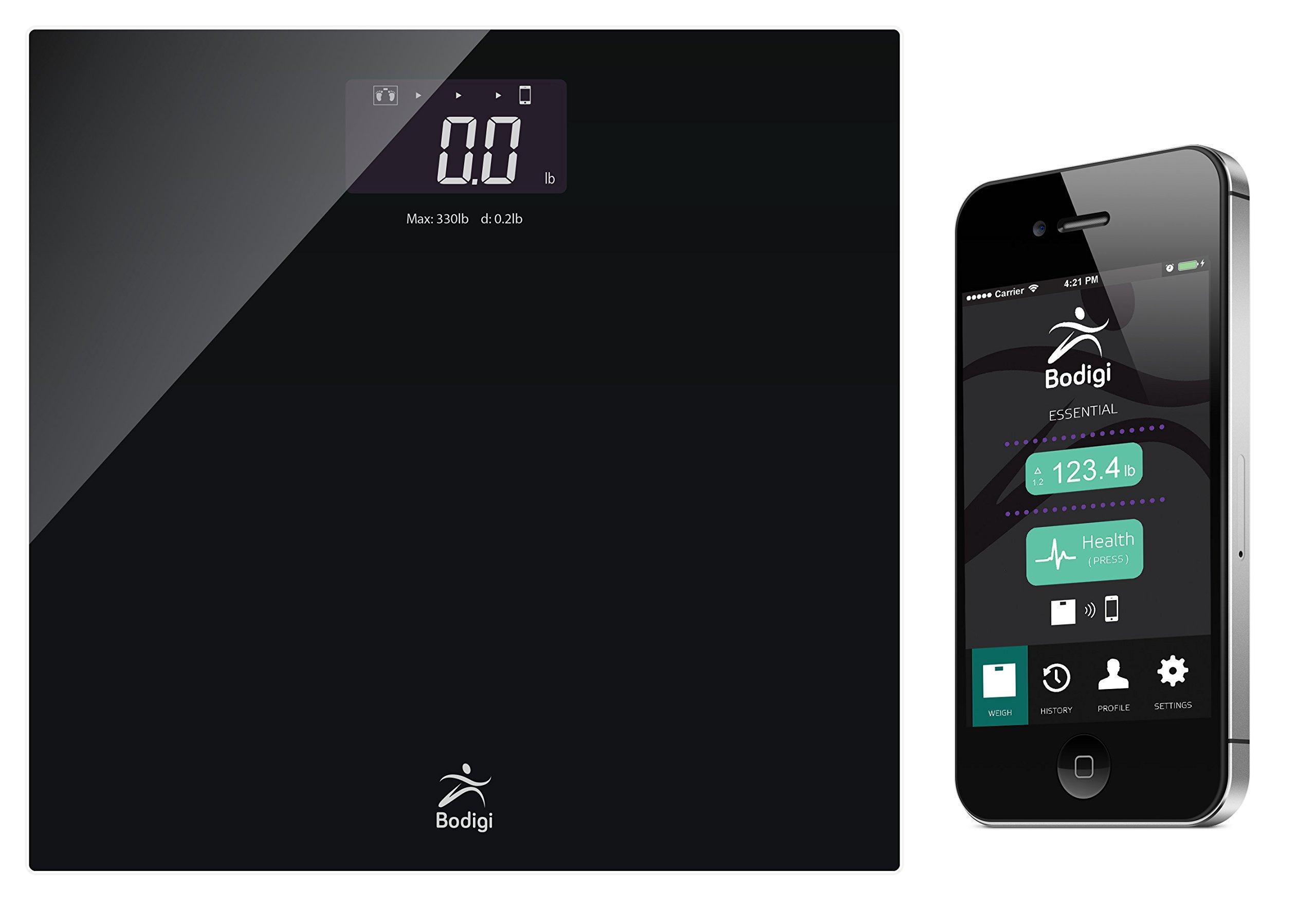 American Weigh Scales Bodigiessential Wireless Bathroom Scale