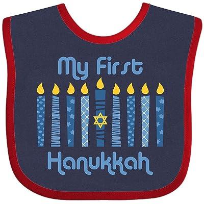 1st hanukkah baby bib