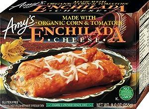 Amy's Frozen Entrées, Cheese Enchilada, Gluten free, 9 oz.