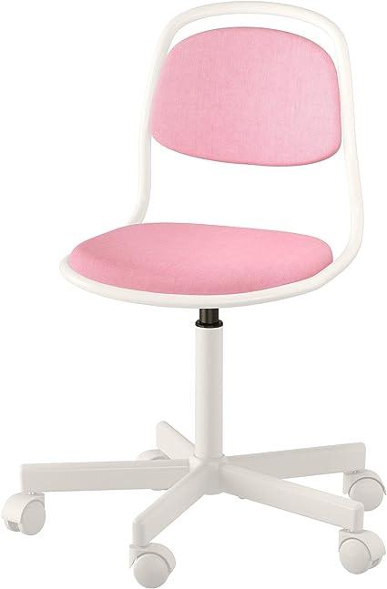 Ikea 903 208 27 Orfjall Sedia Da Scrivania Per Bambini Colore Bianco Rosa Amazon It Casa E Cucina