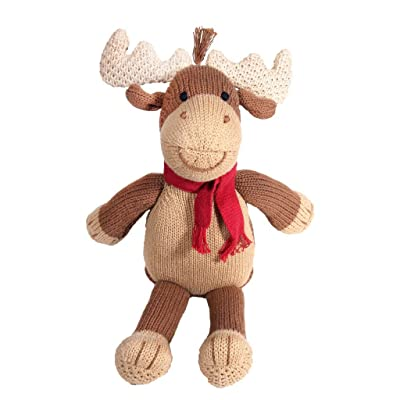 Zubels Baby Marley The Moose Hand-Knit Plush Toy, All-Natural Fibers, Eco-Friendly, 14-Inch: Toys & Games