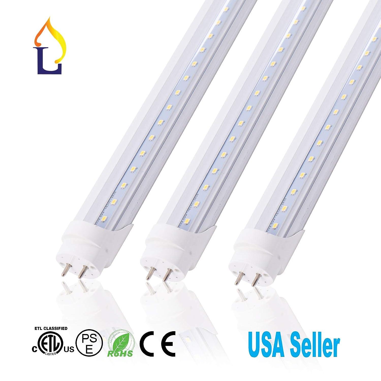 ( 25パック) 6 ft単一g13 t8 30 W smd2835 1800 mm LEDライトバルブランプEconomiceエネルギーのための120度保存デスクライトウォールライトホワイト B076F47K35
