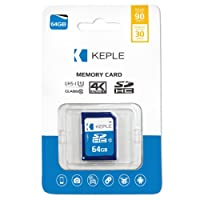 Keple 64GB SD Memory Card Quick Speed SD Card for Nikon D810, D750, D5500, D810A, D7200, D610, DF DSLR Digital Cameras   64GB Storage Class SDCard 10 UHS-1 U1 SDXC Card for HD Videos & Photos