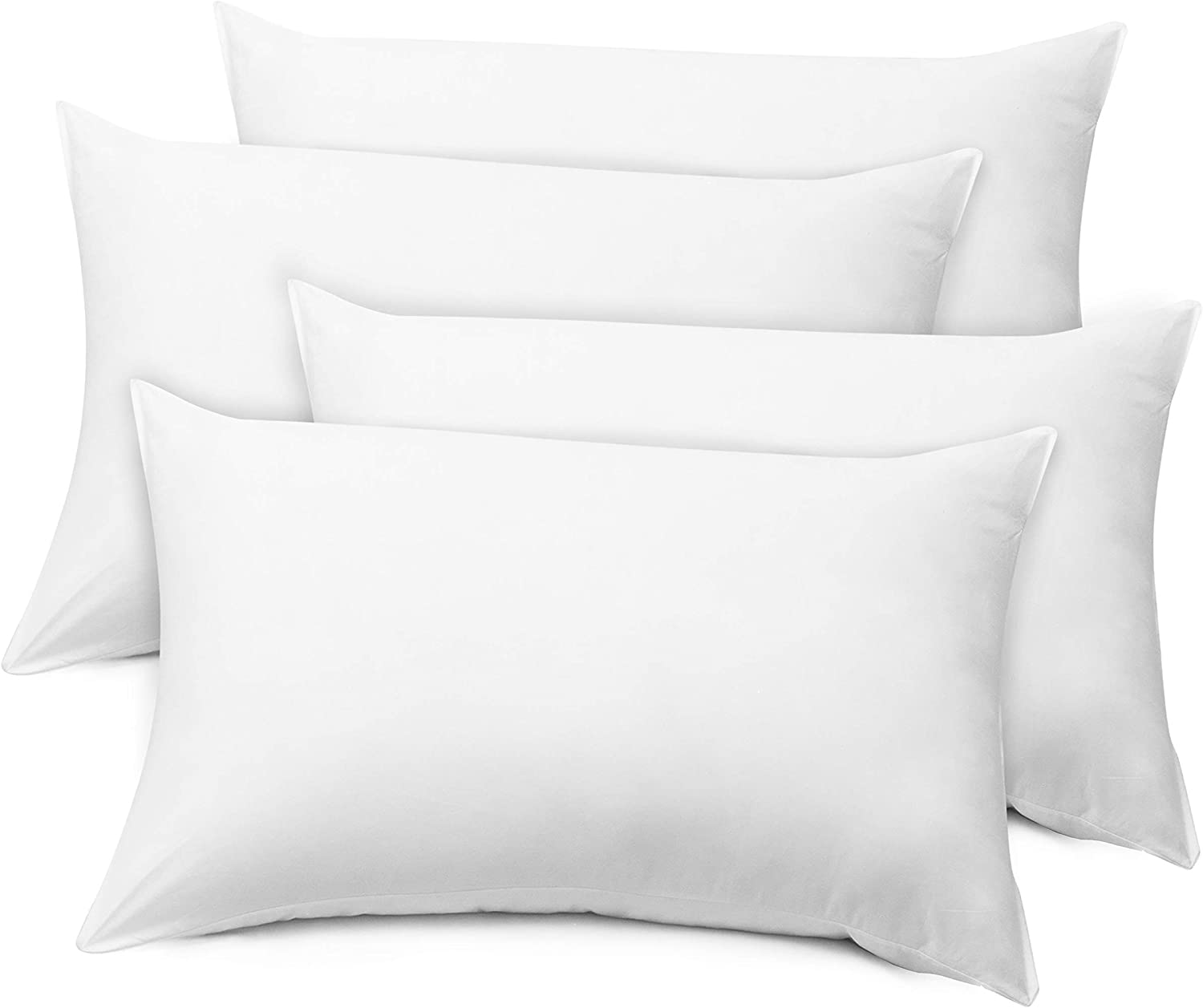 LB LAURA BENASSE LIVE THE DESIGN Elite Bed Pillows Queen Size Set of 4, Hotel Pillows for Sleeping 4 Pack, Hypoallergenic Down Alternative Microfiber Soft Plush Washable Pillow Inserts