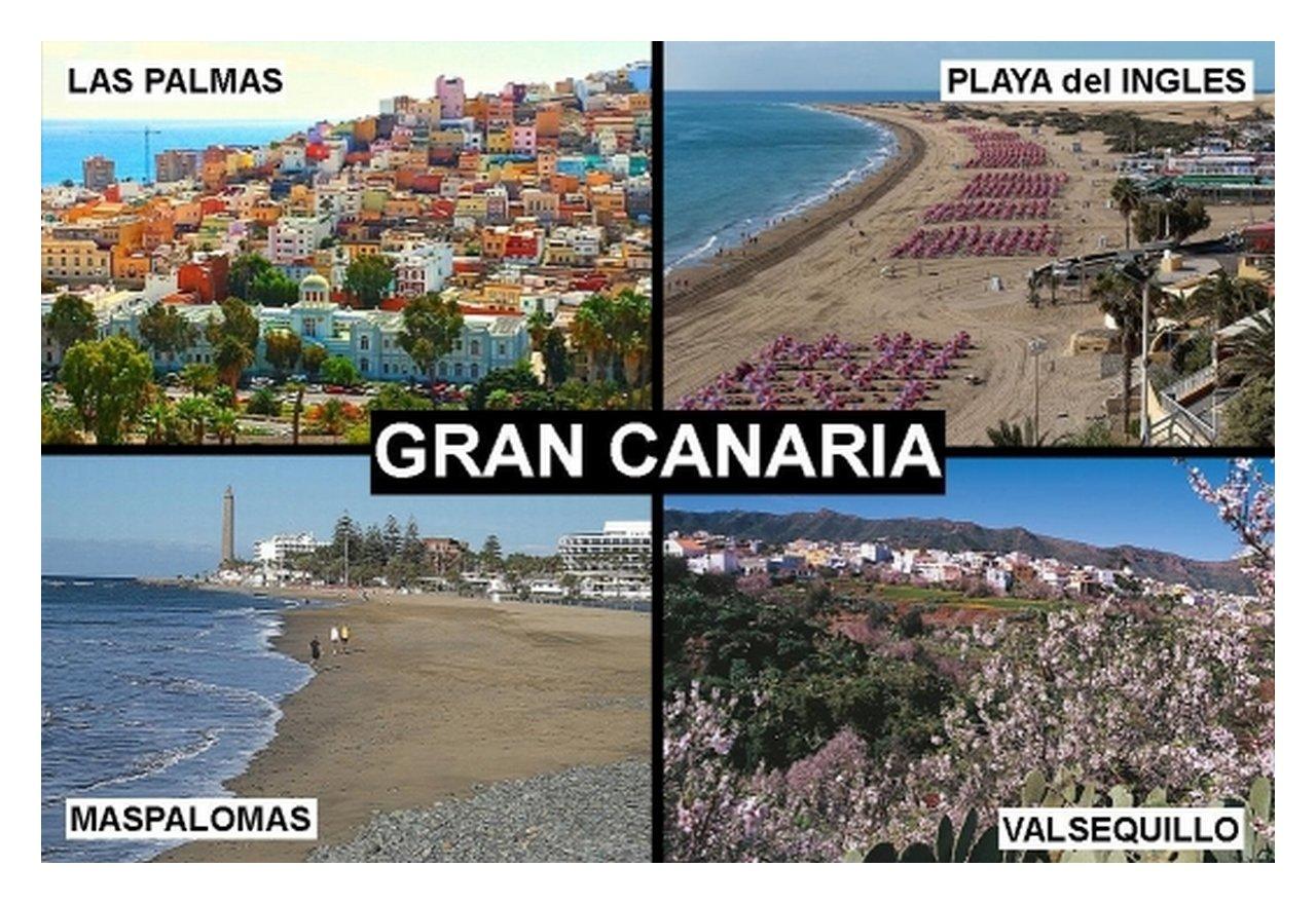 IMÁN PARA NEVERA - RECUERDO de GRAN CANARIA SPAIN 9cm x 6cm Jumbo ...