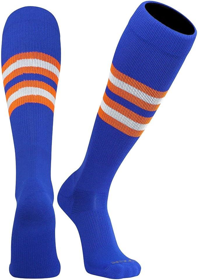 G 21 TCK  All in One Tube Socks-Baseball//Softball-Small-White//Royal Blue