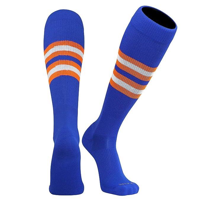d7395977f TCK Pro Elite Knee-High Long Striped Socks in Royal Blue