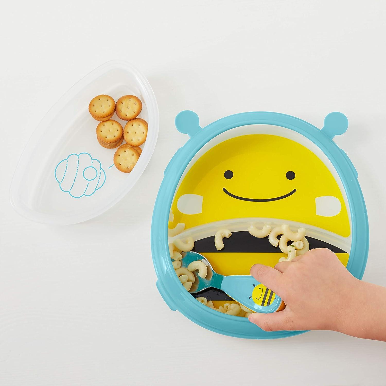 Affe Marshall mehrfarbig mit F/ührungsrand Skip Hop Zoo Smart Serve Teller und Sch/üssel mikrowellengeeignet f/ür selbstst/ändiges Essen