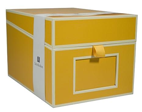 Superieur Semikolon Multimedia CD/DVD/Photo Storage Box, Sun Yellow (31801)