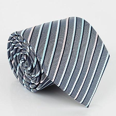 CHAOXIAN Hombres Negocio Vestir Corbata Azul Gradiente Diagonal ...