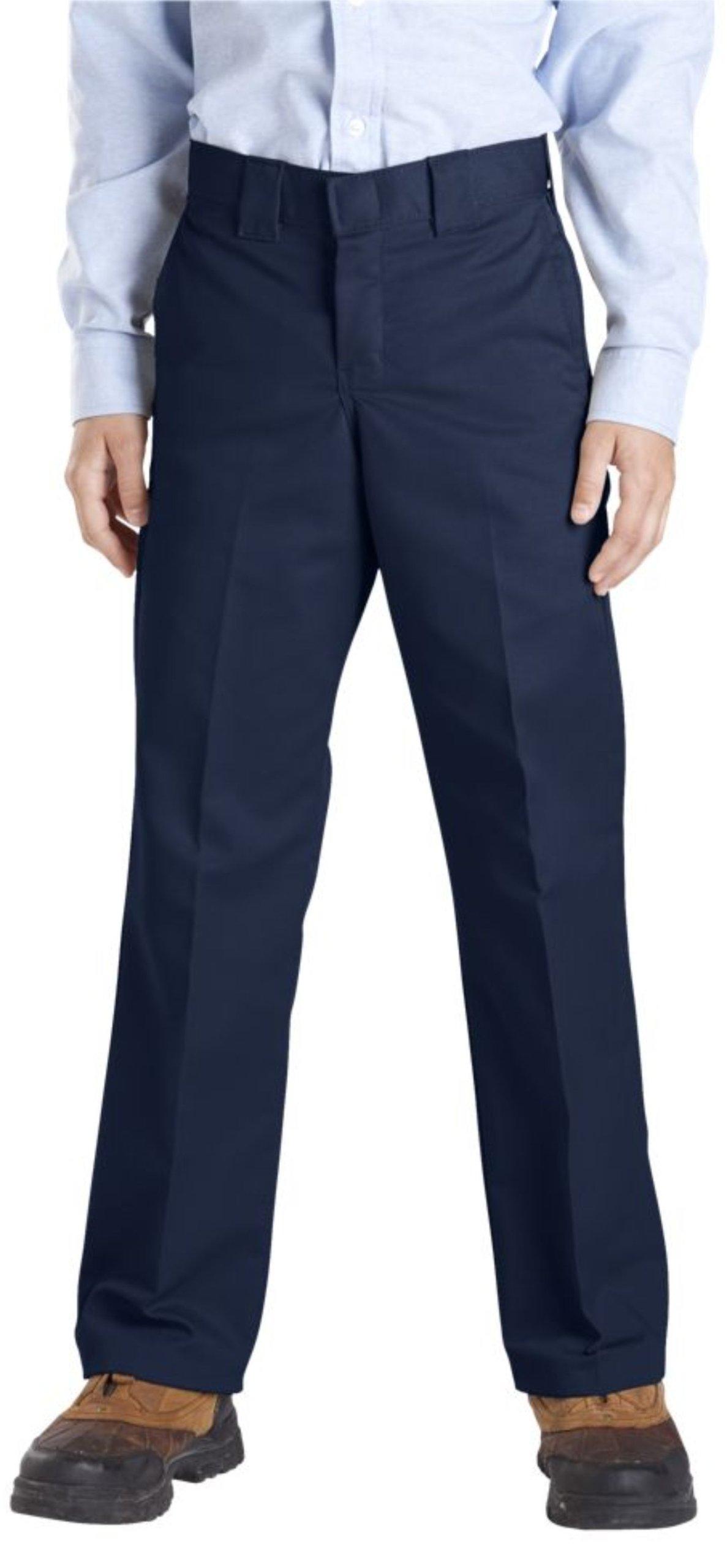 Dickies QP873 Boys Slim Straight Pant-DARK NAVY-12
