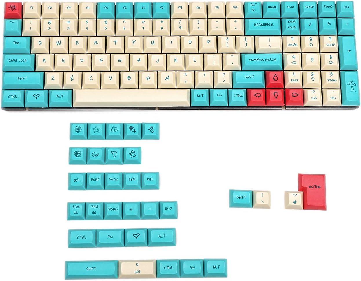 YMDK Hawaii Dye Sub DSA Profile PBT Keycaps
