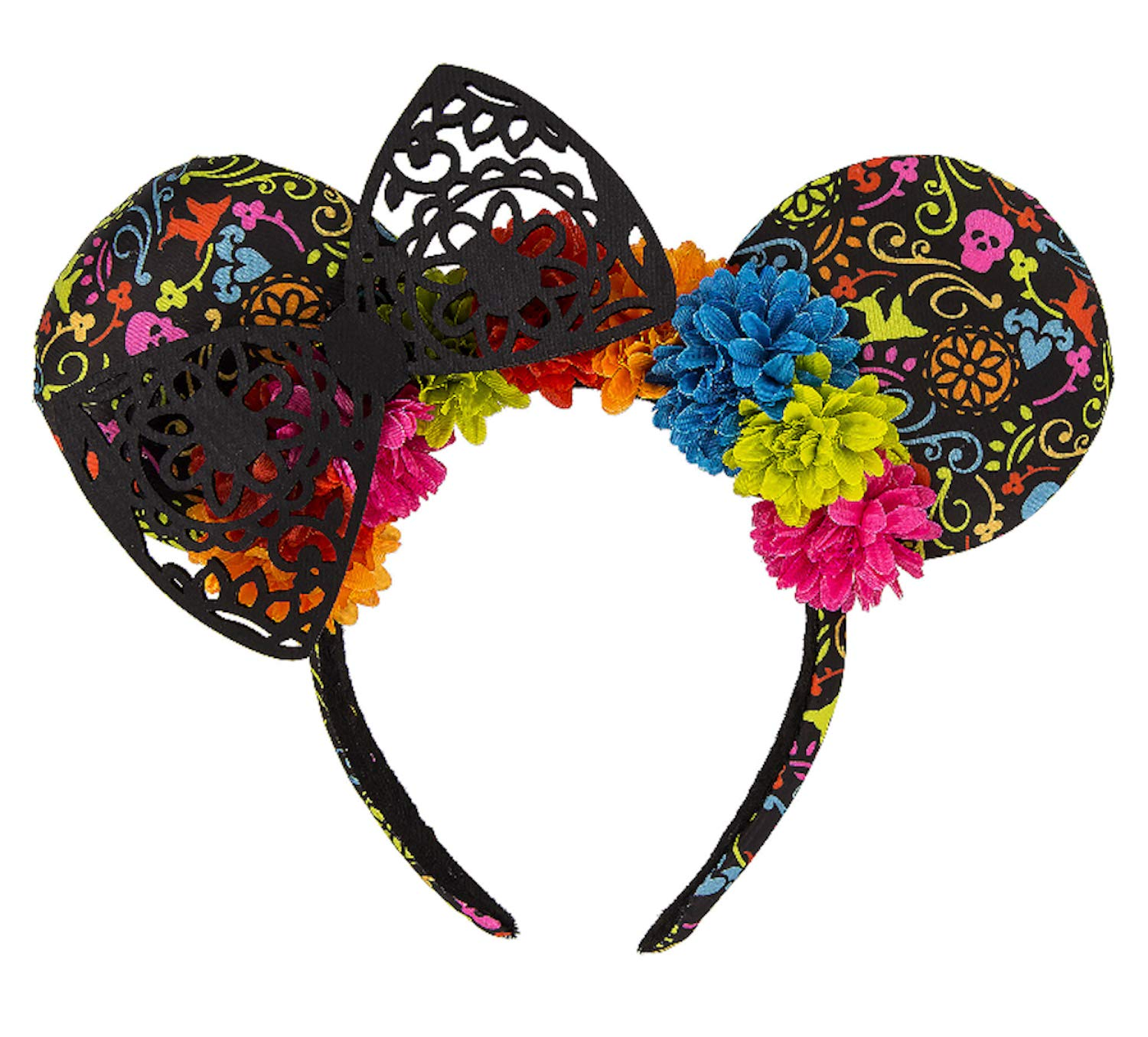 Disney Parks Dia de los Muertos Coco Minnie Mouse Ears Headband New with Tags