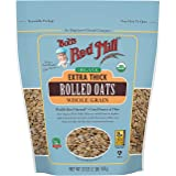 Bob's Red Mill Organic Extra Thick Rolled Oat (32 oz, Pack of 1)