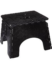 B&R Plastics 101-6B-BLACK EZ Foldz Step Stool
