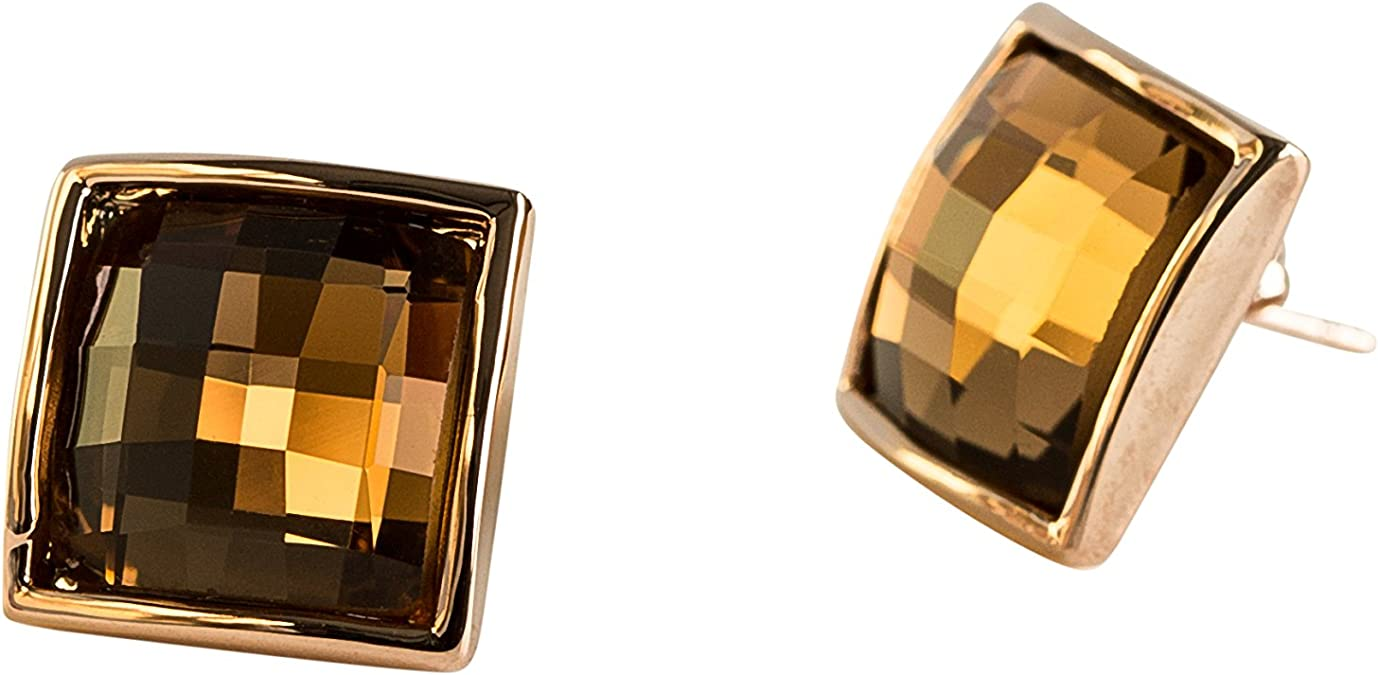 Olivia Haag Fashion Austrian Crystal Rose Square Jewelry Set