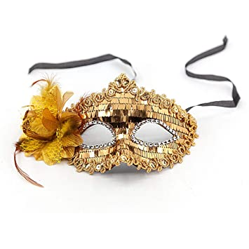 Amazon.com: Máscara de máscara de encaje para mujer, máscara ...