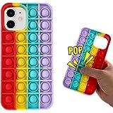 Fidget Toys Phone Case-Bubble Pop Protecive Phone Case-Stress Relief Phone Case-Pop It Phone Case for iPhone12/12 Pro/12 Pro