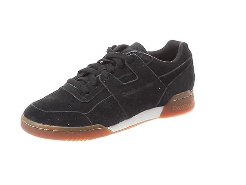 1fbb311135a3 Reebok Boys   Workout Plus Mu Fitness Shoes Multicolour (Suede Black Gum