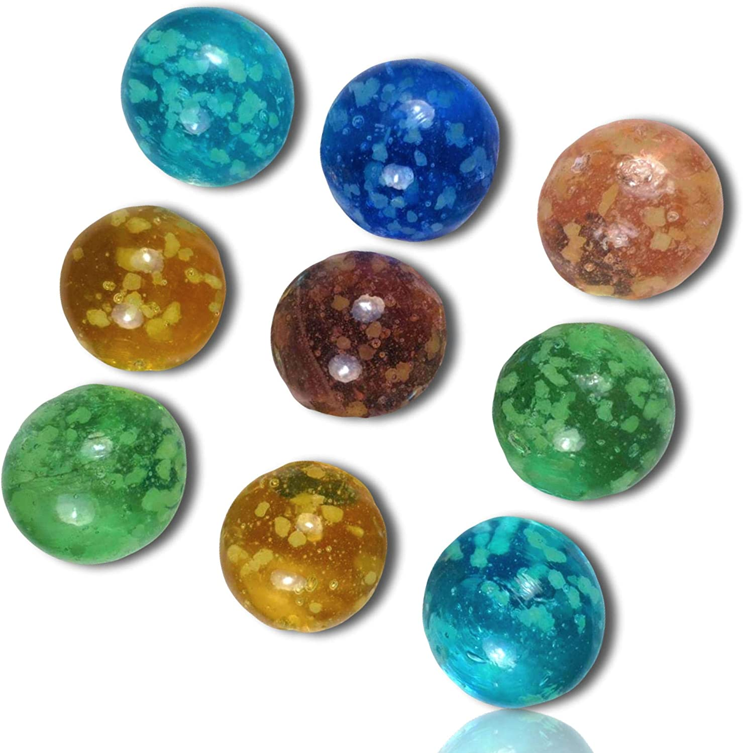 """Marble Size 9//16"""" 14mm Bright Turquoise Blue Glass"""
