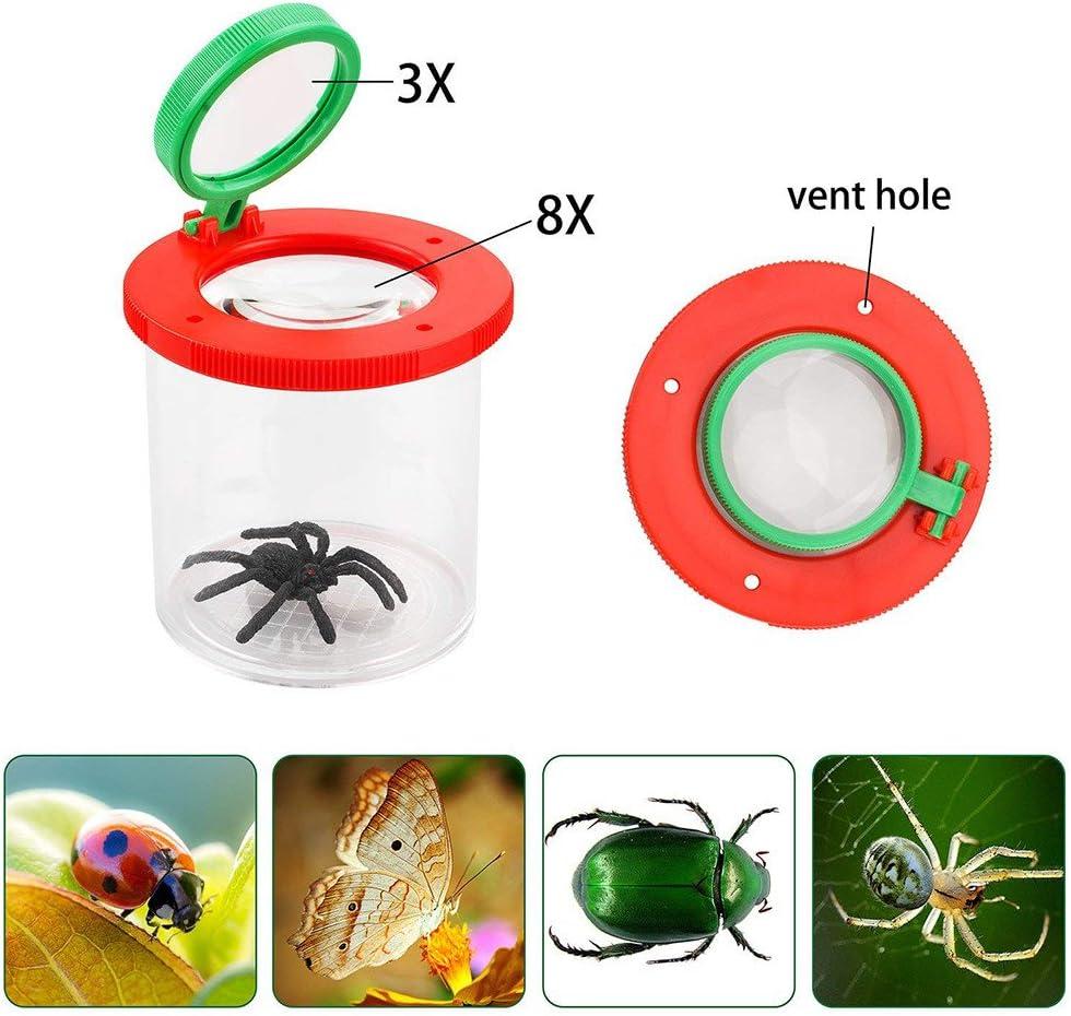 ToDIDAF Lupa para insectos, lupa de juguete para niños, visor de ...