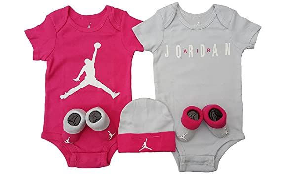 Nike AJ Aire ilusión Jordan Jumpman 5 Piezas Set de Regalo de bebé.  Onesies 8388c43ee23