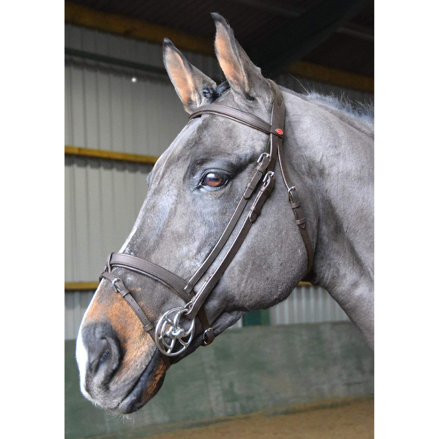 John Whitaker Ready to Ride Snaffle Bridle Extra Full Size Brown