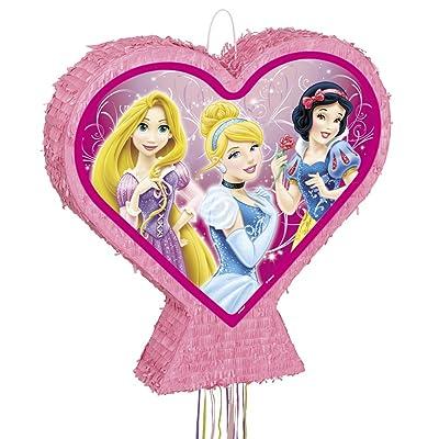 Heart-Shaped Disney Princess Pinata, Pull String: Toys & Games