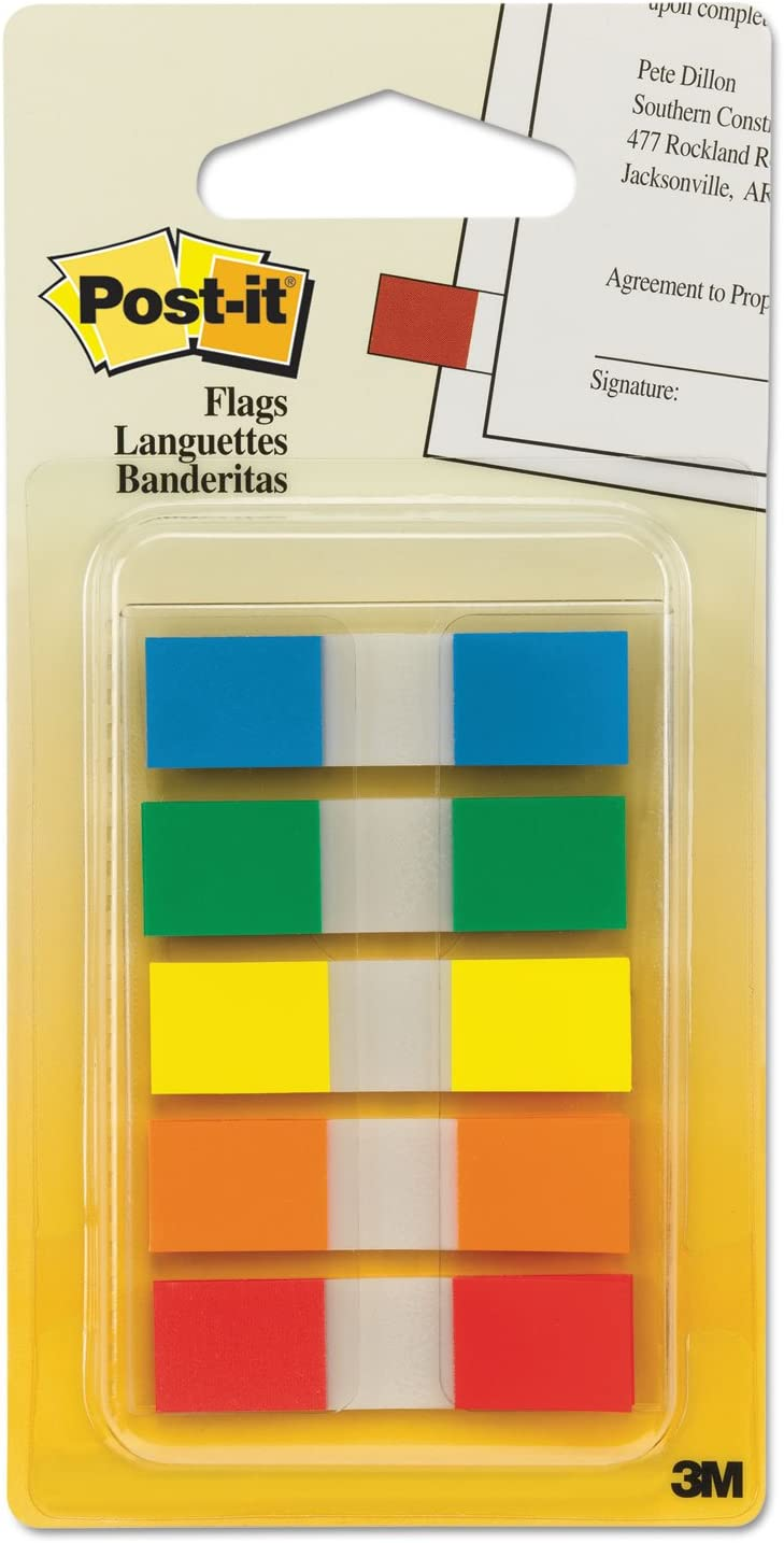 Post-it Arrow//Sign Here Flags Value Pack 252 Flags MMM684VAD2 Assorted Colors