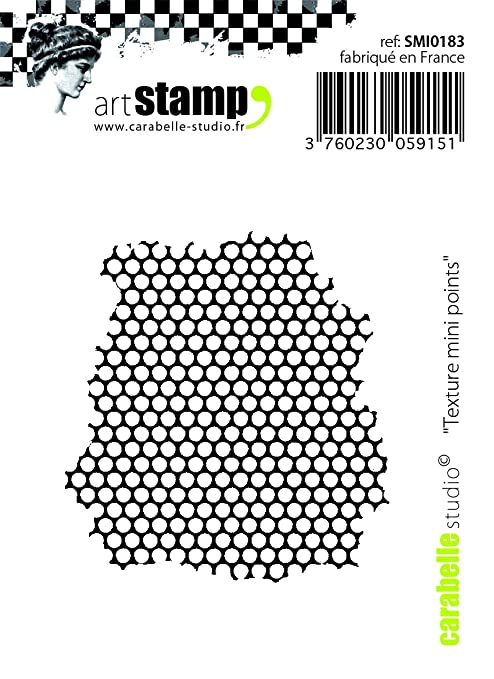 Carabelle Studio Texture Small Points Cling Sello Mini, Caucho, 5.0x6.0x0.