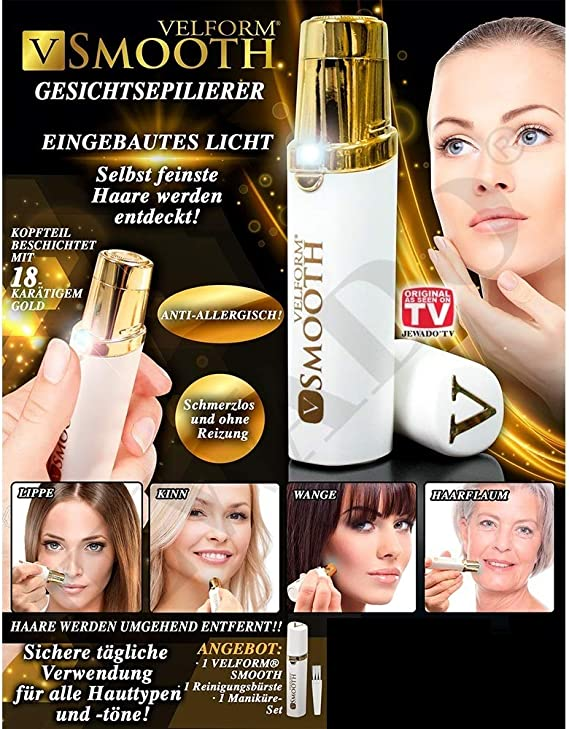 Carrefour Velform Smooth Oro, Blanco - Depiladora (Oro, Blanco ...