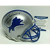 """Billy Sims Signed Detroit Lions Football Mini-Helmet""""1980 Offensive R.O.Y."""" BAS - Beckett Authentication photo"""