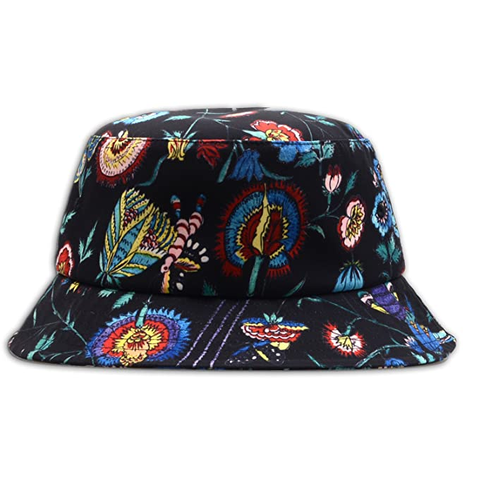 2f45a287681c8 GP Accessories Trends Fashion Bucket Hat Large Digital Print Floral Black