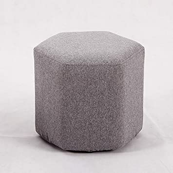 Amazon Com Cloth Ottoman Footstool Home Living Room Multicolor Kid Coffee Table Dressing Clothing Store Sofa Stool Change Shoe Bench Color Gray Furniture Decor