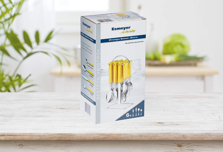 Cuberter/ía con Soporte Color Amarillo Esmeyer Bistro 24 Piezas