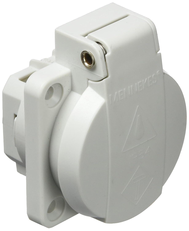 rot//schwarz Schwabe 45080 230 V Schutzkontakt-Einbaudose as mit Klappdeckel IP 54