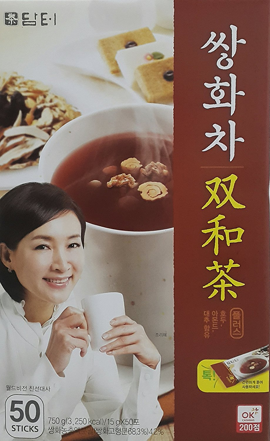(Tea Collection) Herbal Supplement Healthy Tonic Tea (Ssanghwa Tea(Herbal Tonic) Plus 15g x 50 sticks) by Damtuh