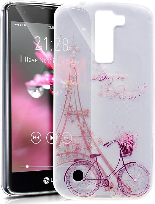 Carcasa LG K7,funda LG K7,LG K7 Case,Carcasa LG K7 silicona funda funda teléfono protectora TPU Ultra Delgada Premium Semi Hybrid Crystal Clear Flex Soft Skin Extra Slim TPU Case Carcasa Funda Funda: