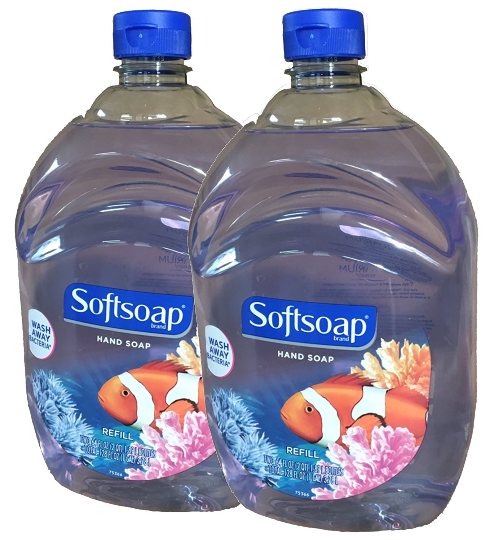 Softsoap Liquid Hand Soap, Aquarium Series, 128 oz Refill Bottle