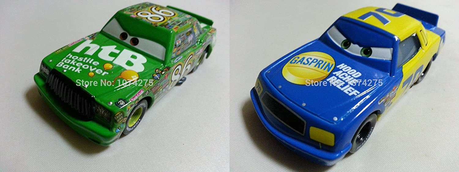 GASPRIN 1:55 diecast toys NEW! DISNEY CARS Piston Cup 2 pack SPUTTER STOP
