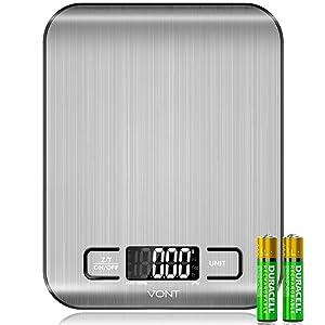 Vont Digital Kitchen Scale/Food Scale, Detachable Bowl Design, Gorgeous Stainless Steel Design with Alarm Timer & Temperature Sensor …